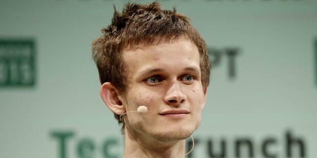 Founder of Ethereum Vitalik Buterin during TechCrunch Disrupt London 2015 - Day 2 at Copper Box Arena on December 8, 2015 in London, England.