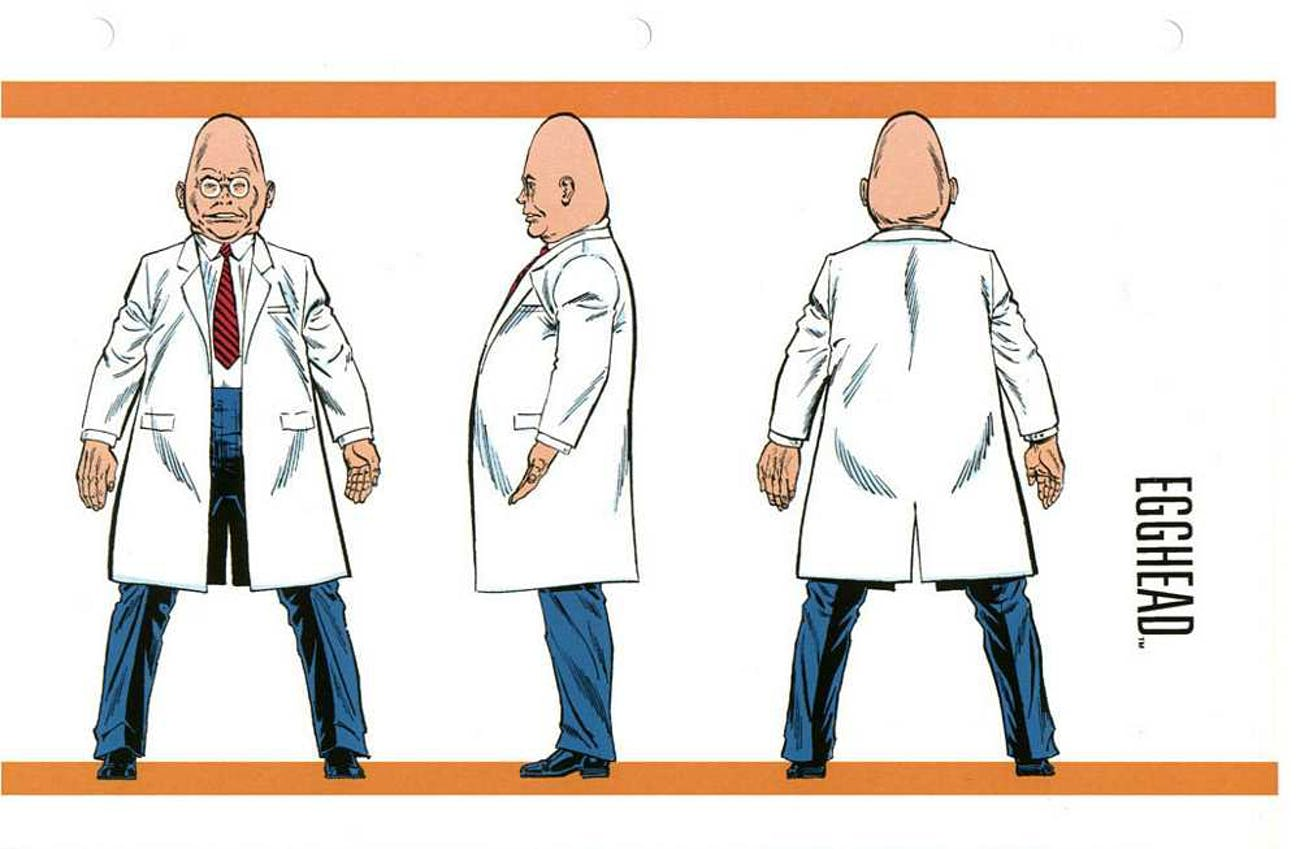 This is Egghead in the 'Official Marvel Handbook'.