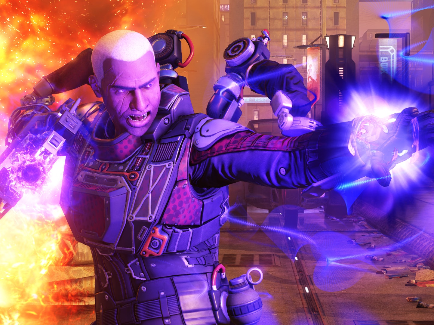 This is actually an XCOM soldier from 'XCOM 2' using psionic abilities to make some alien's day worse.