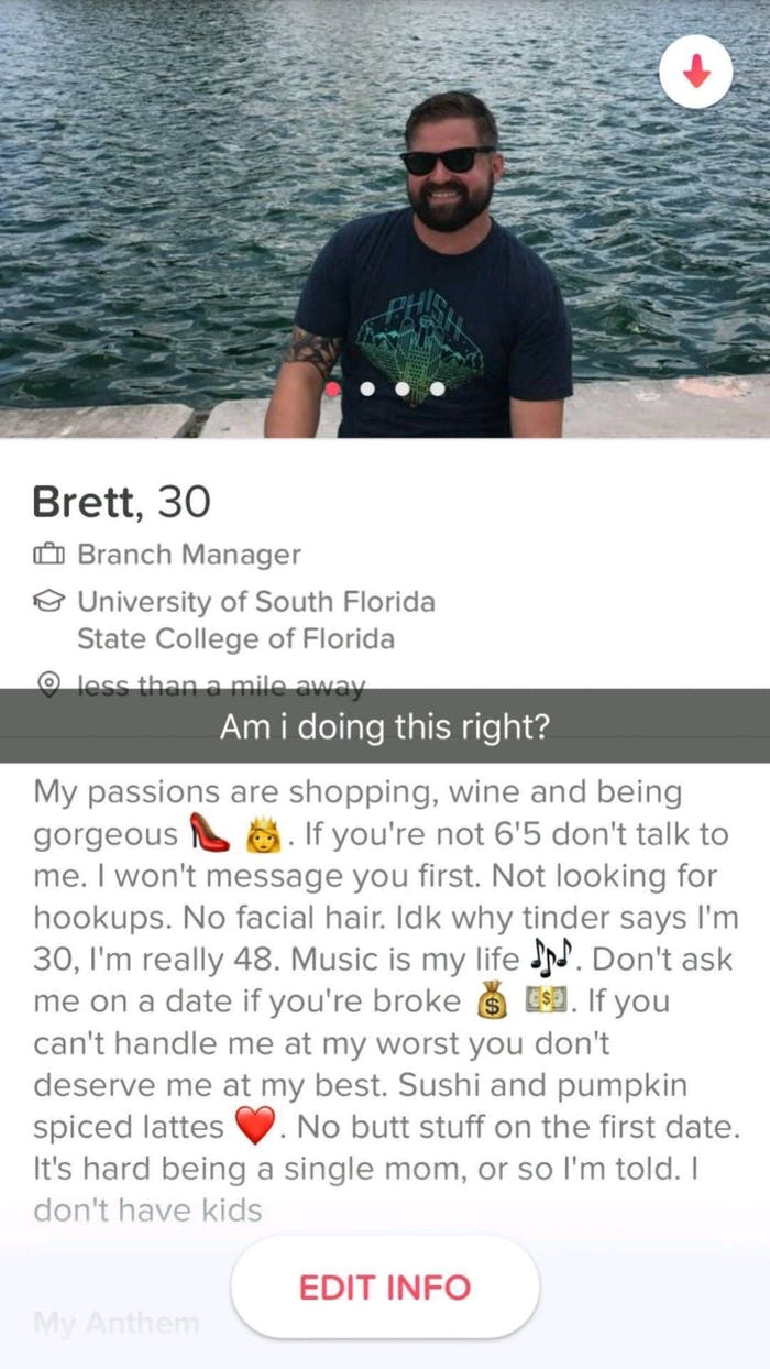 Quirky dating profiles