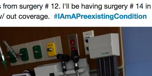 #IAmAPreexistingCondition Twitter Campaign