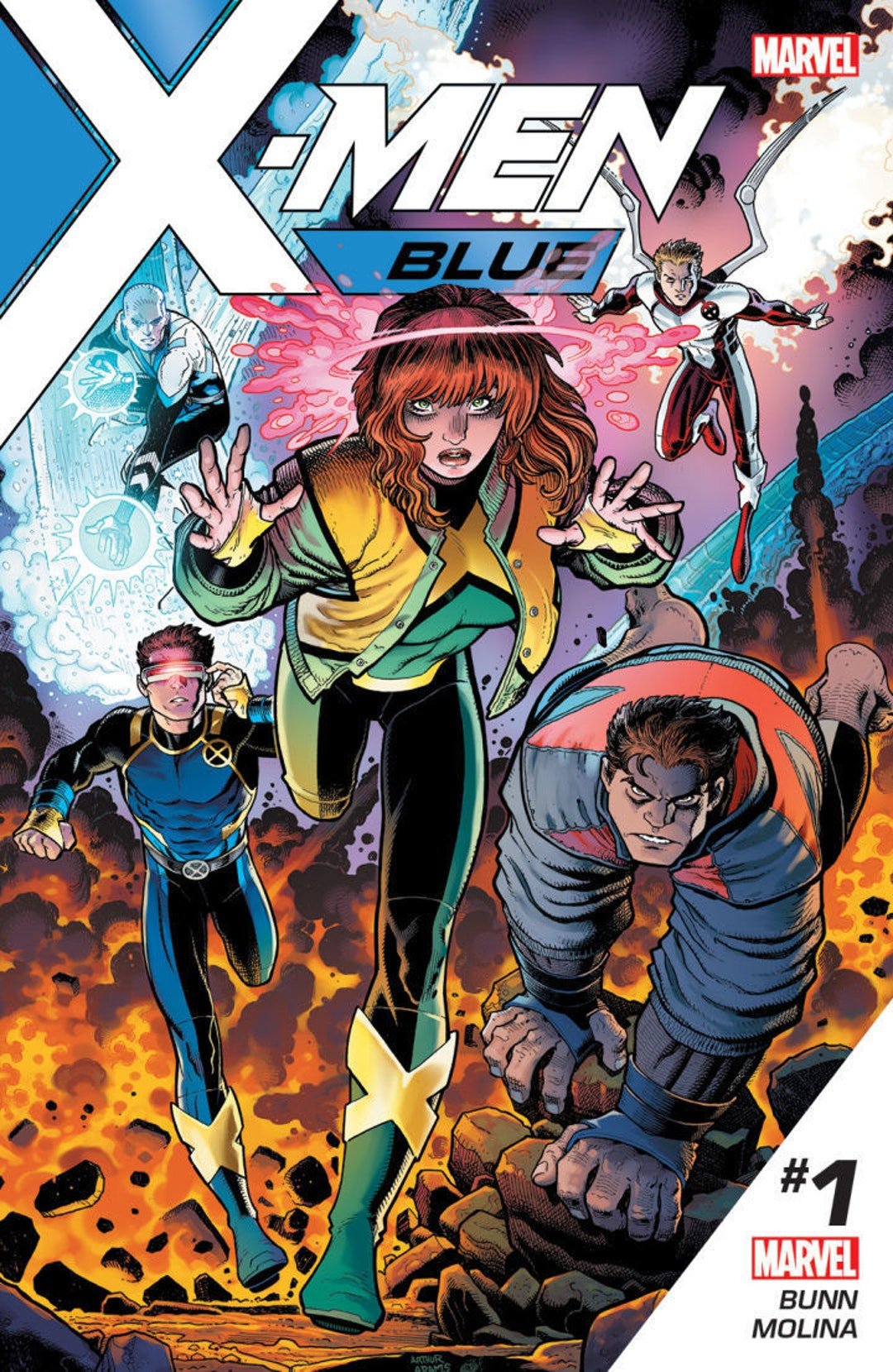 Cover for X-Men Blue by Marvel Comics