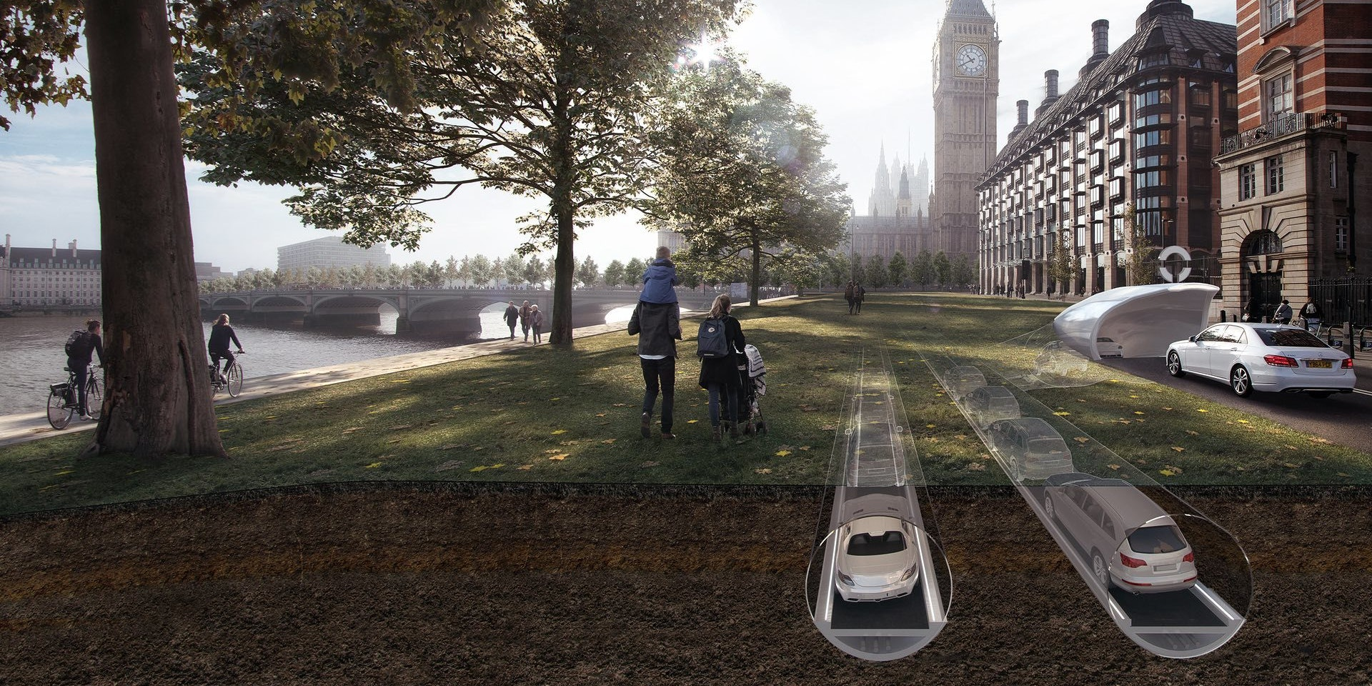 There's a Plan to Turn London's Roads Into Underground Tubes