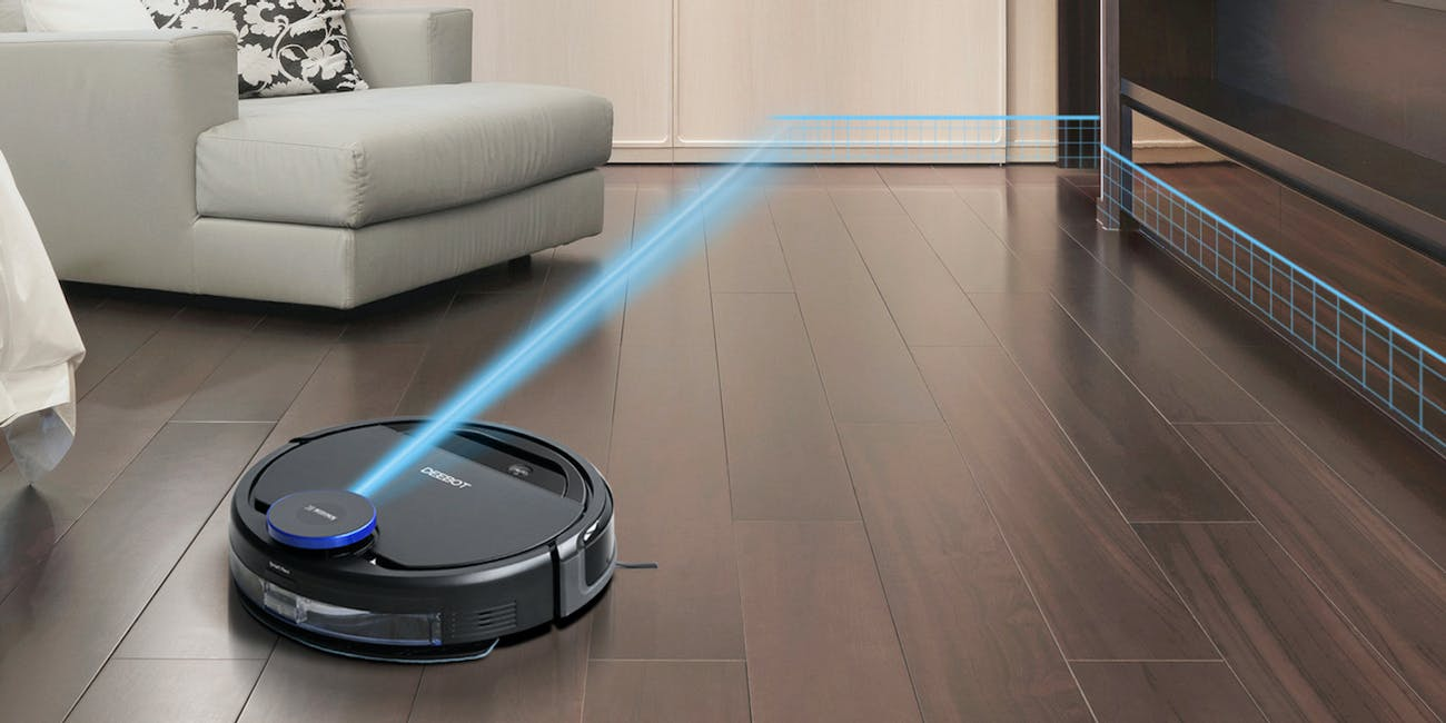 ECOVACS DEEBOT OZMO 930, Smart Robotic Vacuum and Mop, for Carpet, Bare Floors, Pet Hair, with Intelligent Mapping, OZMO Mopping Technology, Adaptive Floor Sensing Technology, and Compatible with Alexa and Google Home