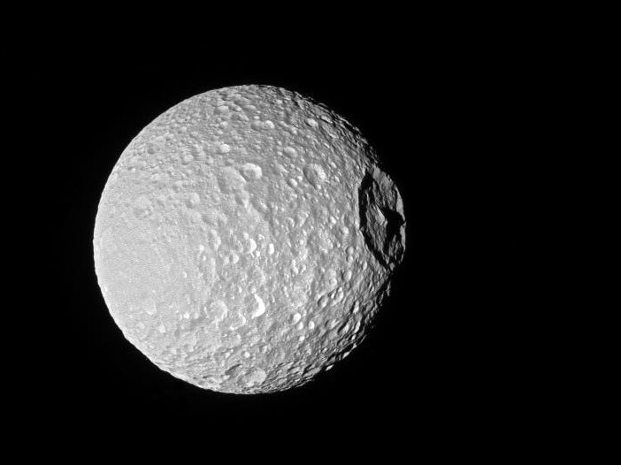 So, Saturn's Moon Looks a Lot Like the Death Star