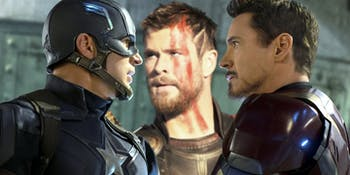 Thor and Captain America and Iron Man
