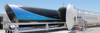 Hyperloop One's second full-scale test sent a pod shooting down a pressurized tube at almost 200 miles per hour.