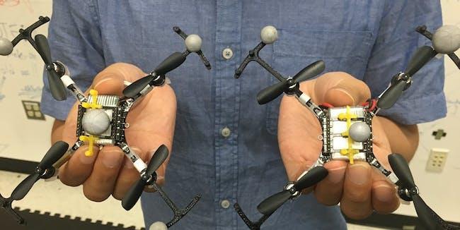 swarm drones blimps