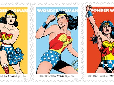 Celebrate 75 Years of Wonder Woman with These New Stamps