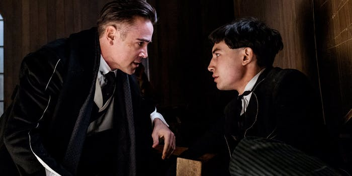 Colin Farrell as Percival Graves aka Gellert Grindelwald and Ezra Miller as Credence Barebone  in 'Fantastic Beasts and Where to Find Them'