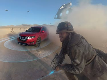 What It's Like to Drive a Car Through a 'Star Wars' Battle Scene