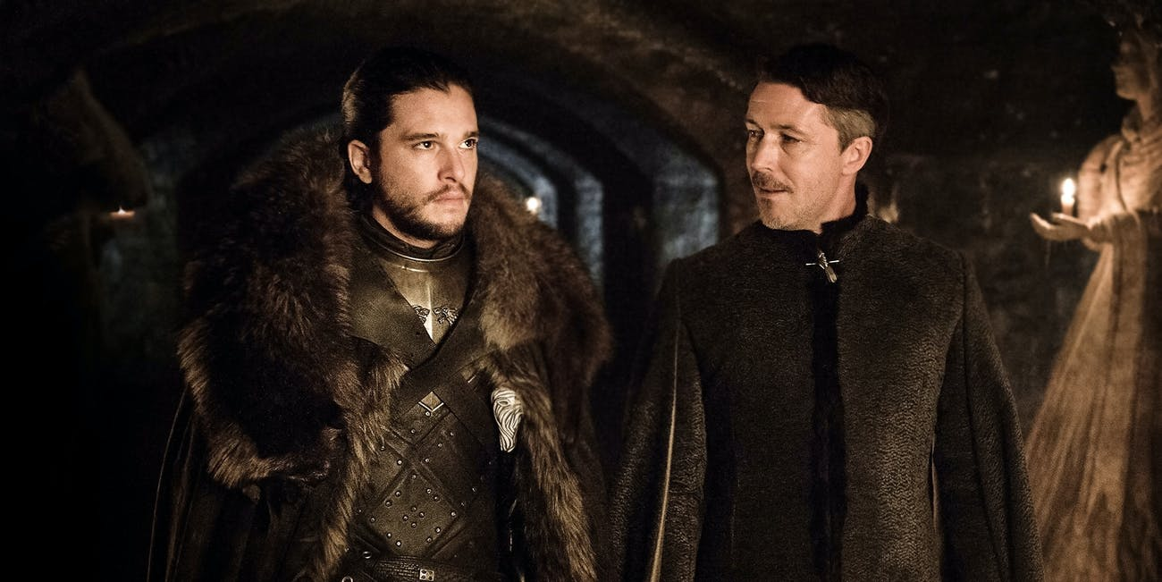Kit Harington as Jon Snow Targaryen in 'Game of Thrones' Season 7 with Littlefinger