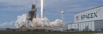 CAPE CANAVERAL, FL - JUNE 03: In this handout provided by the National Aeronautics and Space Administration (NASA), the SpaceX Falcon 9 rocket, with the Dragon spacecraft onboard, launches from pad 39A at NASA's Kennedy Space Center on June 3, 2017 in Cape Canaveral, Florida. Dragon is carrying almost 6,000 pounds of science research, crew supplies and hardware to the International Space Station in support of the Expedition 52 and 53 crew members. The unpressurized trunk of the spacecraft also will transport solar panels, tools for Earth-observation and equipment to study neutron stars. This will be the 100th launch, and sixth SpaceX launch, from this pad. Previous launches include 11 Apollo flights, the launch of the unmanned Skylab in 1973, 82 shuttle flights and five SpaceX launches. (Photo by Bill Ingalls/NASA via Getty Images)