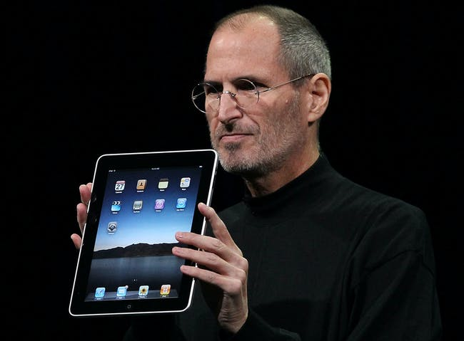 Steve Jobs introducing the iPad in 2010.