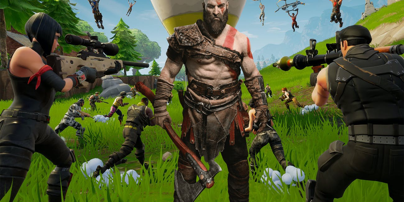 fortnite season 5 mode kratos god of war thanos