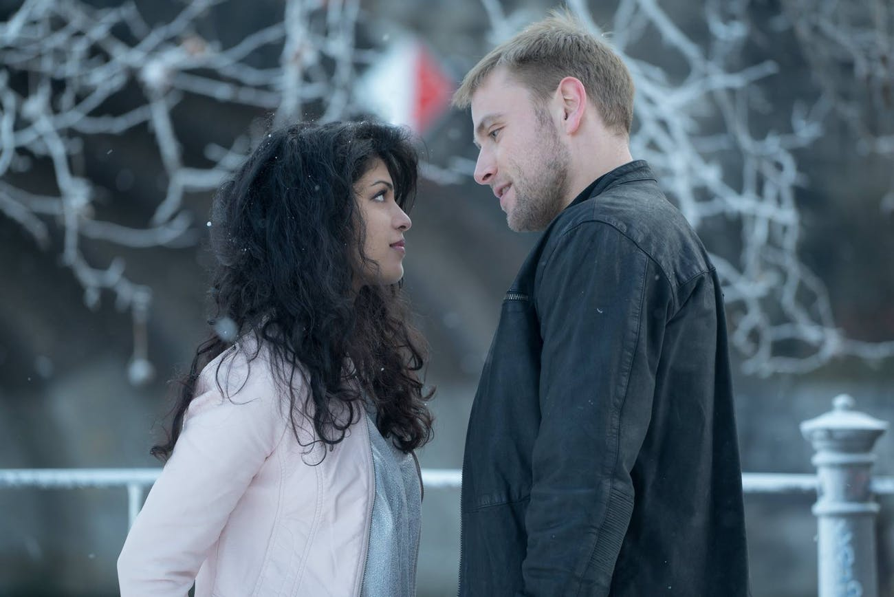 Tina Desai and Max Riemelt in Sense8