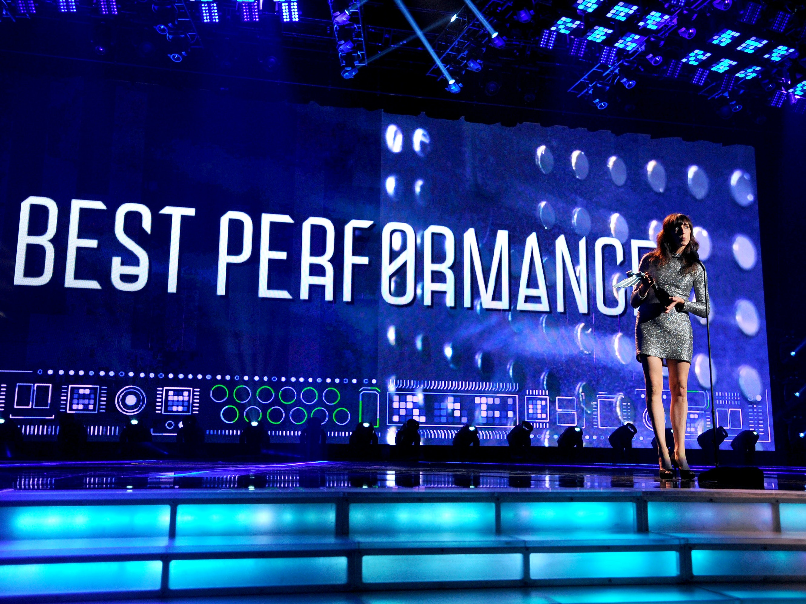 Viva Seifert delivers an acceptance speech for her award for Best Performance (for 'Her Story') at last year's Game Awards.