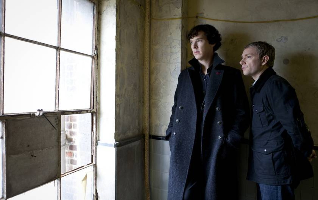 Benedict Cumberbatch and Martin Freeman in BBC's 'Sherlock'