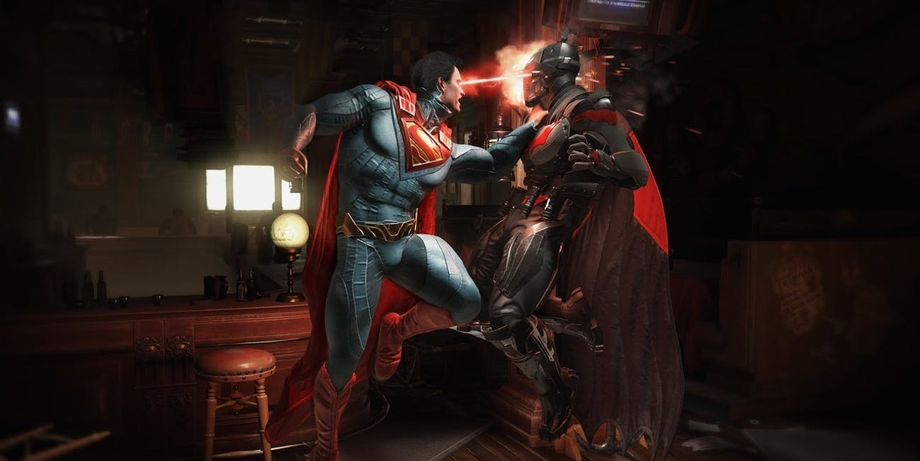 Batman vs Superman for 'Injsutice 2'