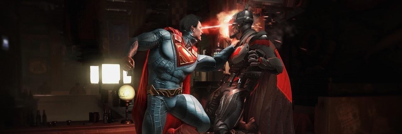 Batman vs Superman for 'Injsutice 2'