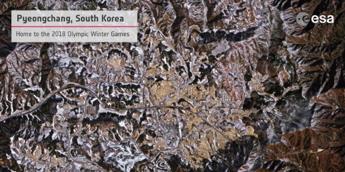 pyeongchang winter olympics 2018 from space