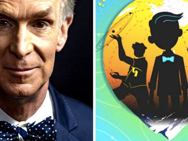 Bill Nye's young adult book series focuses on genius kids.