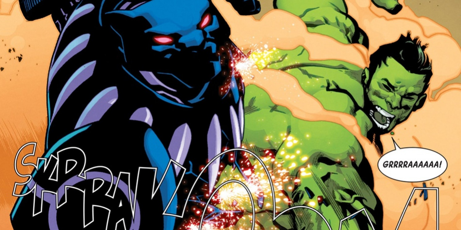 Hulk vs Black Panther from Totally Awesome Hulk #10