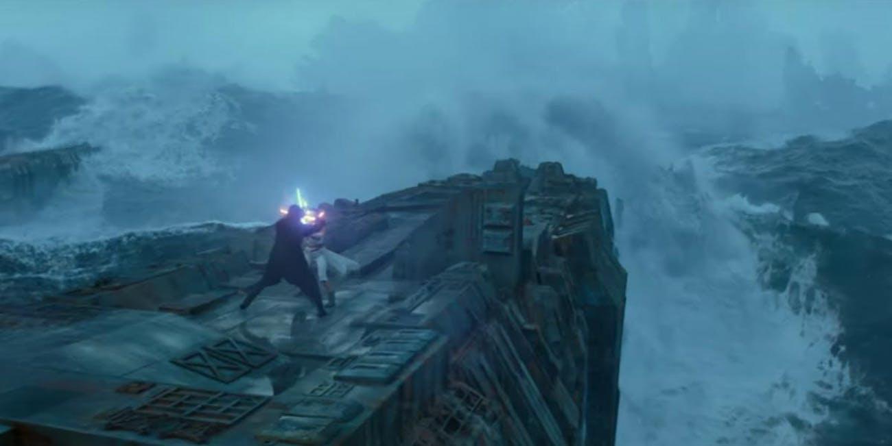rise of skywalker rey versus kylo ren