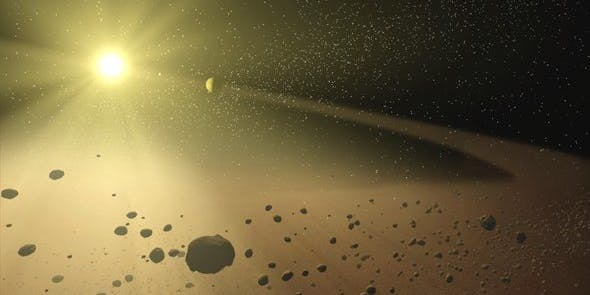Artist's rendering of Tabby;s Star, which is still probably not crawling with aliens.