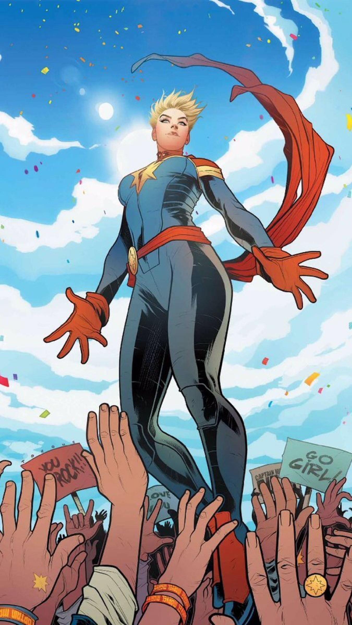 Captain Marvel cover for Marvel Comics