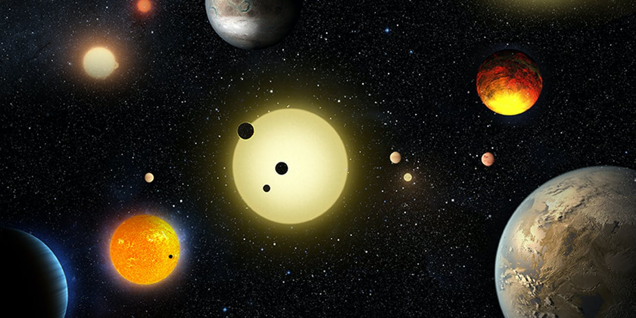Conceptual art of exoplanets