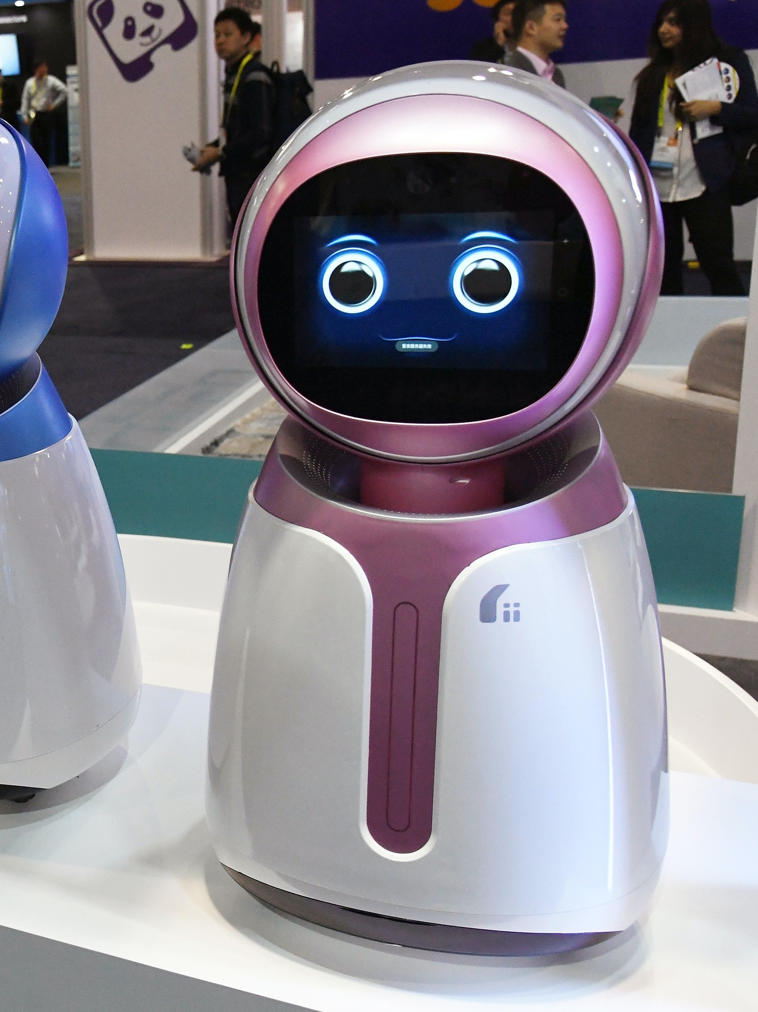 LAS VEGAS, NV - JANUARY 05:  Prototype Kikoo autonomous robots for children by Hanwuji Intelligence are displayed at CES 2017 at the Sands Expo and Convention Center on January 5, 2017 in Las Vegas, Nevada. The USD 600 robot features facial recognition technology and is designed to be a companion to children when their parents are working. Using age-based interactive content, it can launch talks or songs actively and dance or play with children as well as automatically take photos and video using voice or app instruction. CES, the world's largest annual consumer technology trade show, runs through January 8 and features 3,800 exhibitors showing off their latest products and services to more than 165,000 attendees.  (Photo by Ethan Miller/Getty Images)