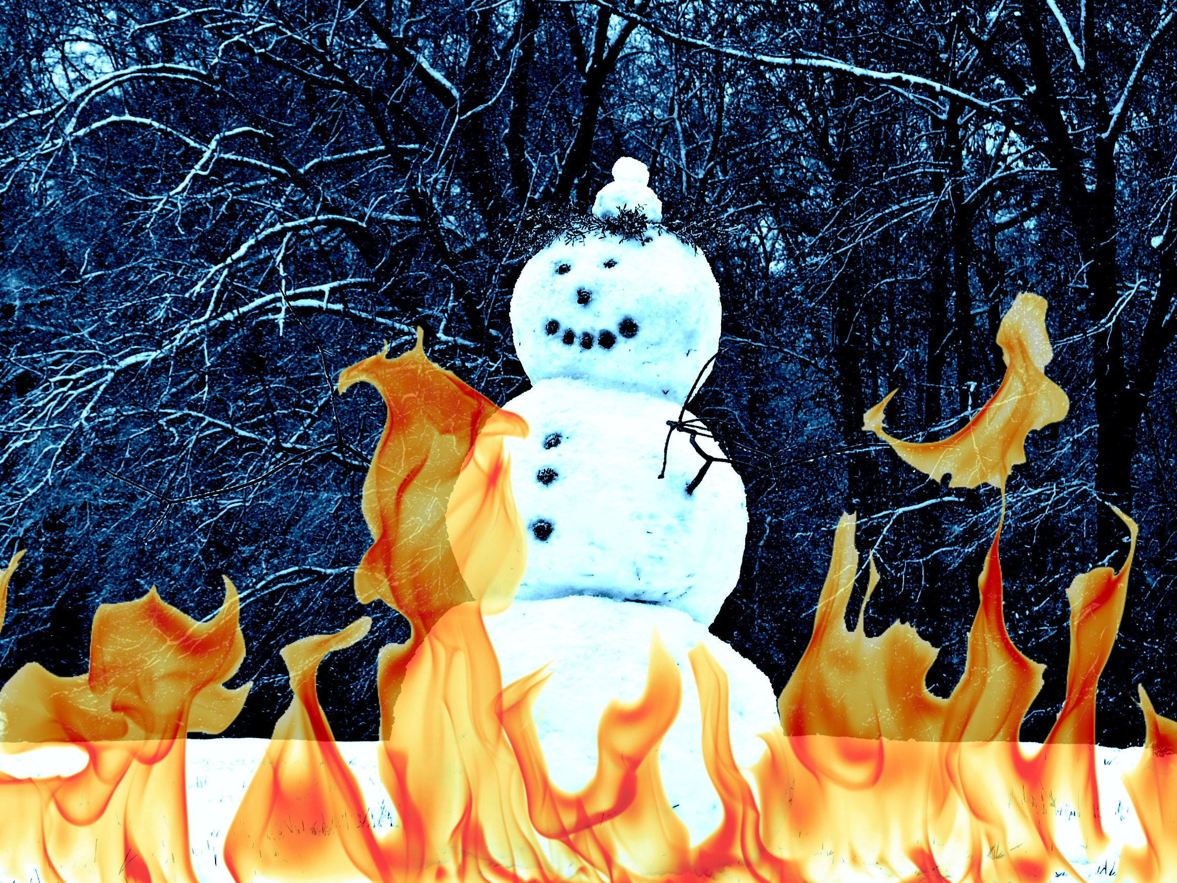 Why Does Snow Burn?