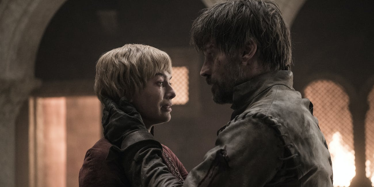 Cersei (Lena Headey) and Jaime (Nikolaj Coster-Waldau) in the Red Keep on 'Game of Thrones'