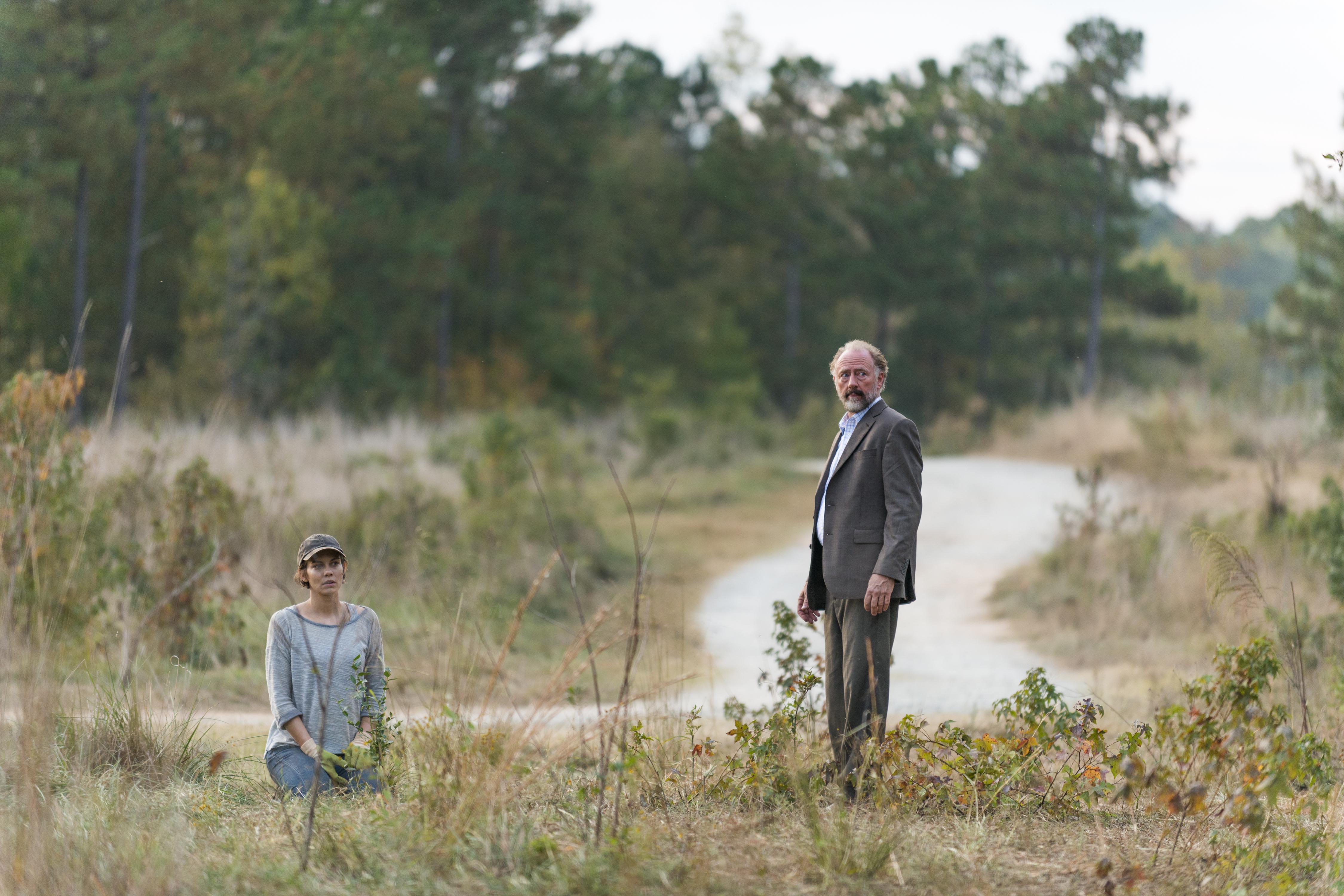 Lauren Cohan as Maggie Greene, Xander Berkeley as Gregory
