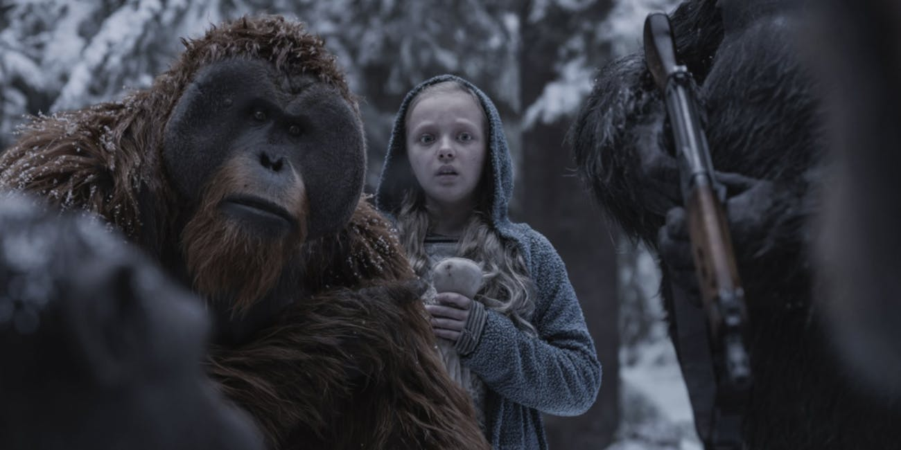 "Some humans lose the ability to speak in ""War for the Planet of the Apes."""