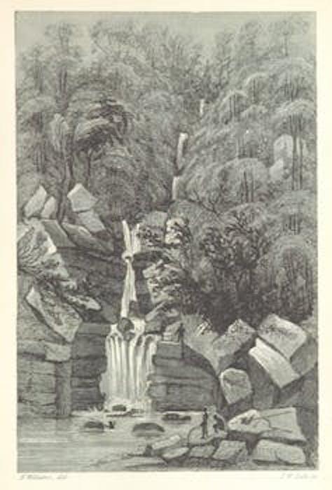 A waterfall in Sarawak.