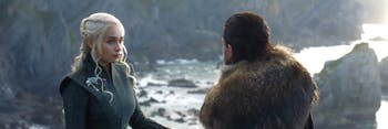 Daenerys Targaryen and Jon Snow on 'Game of Thrones'