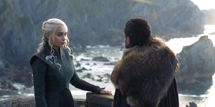 Daenerys Targaryen and Jon Snow on 'Game of Thrones'