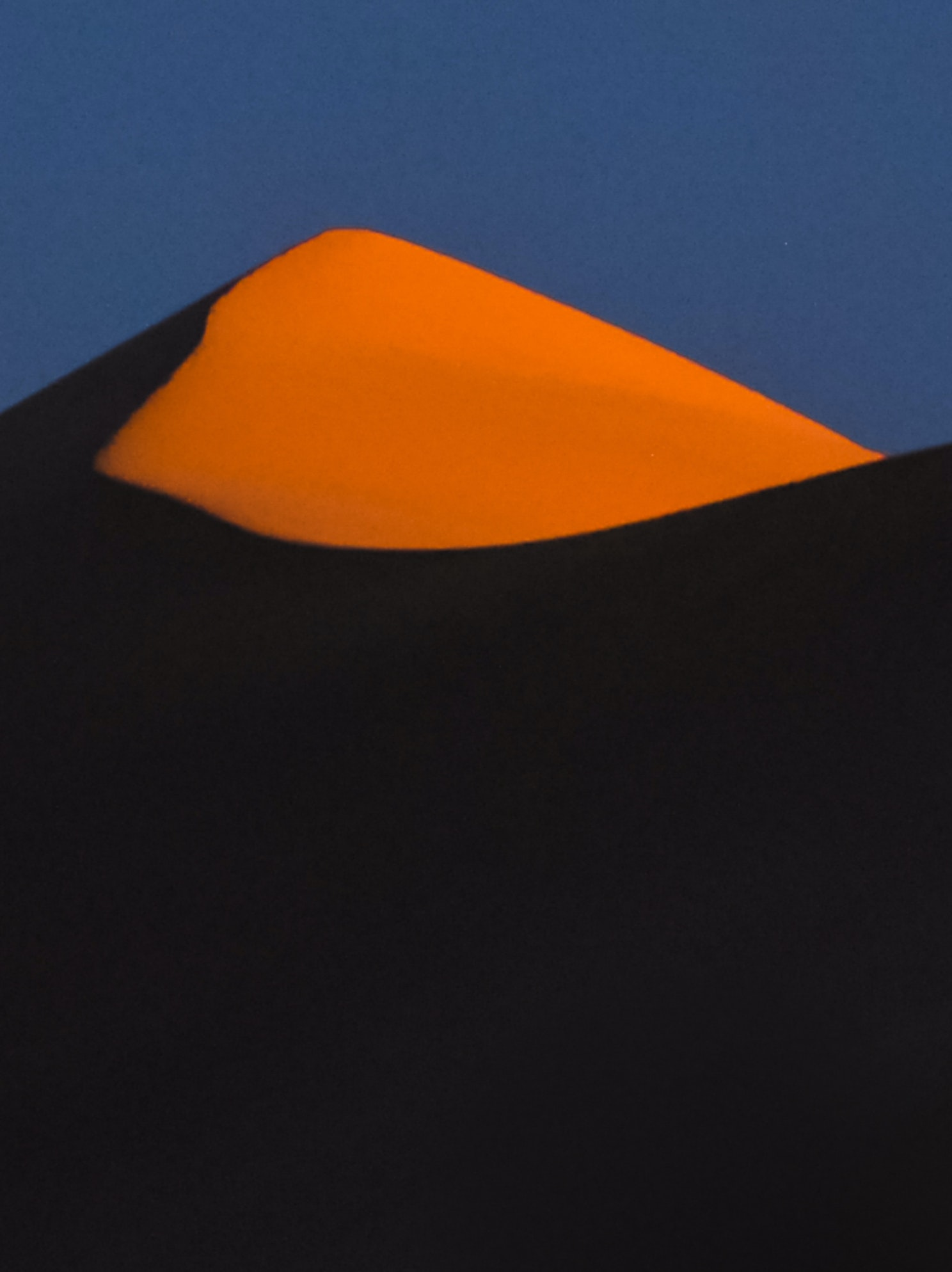 Mongolian landscape at sunset - Khongorin Els sand dunes in the Gobi desert