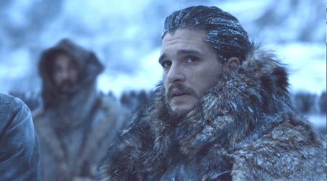 "Kit Harington as Jon Snow in 'Game of Thrones' Season 7, ""Beyond the Wall"""
