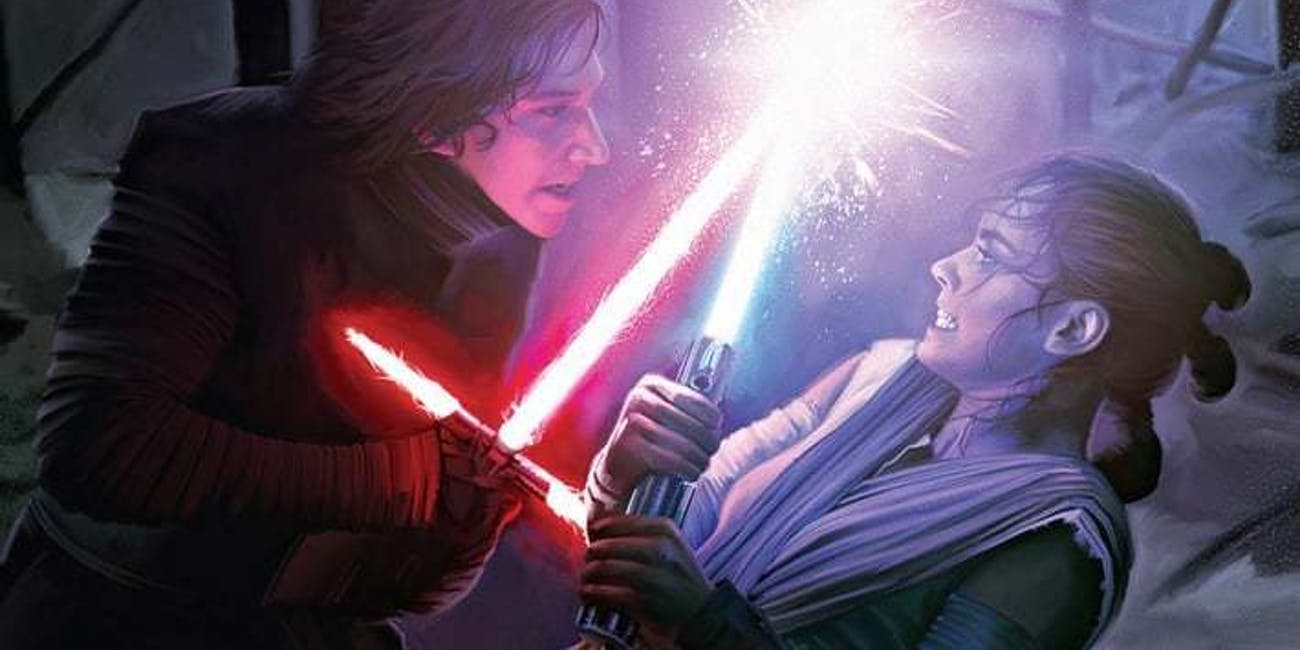 Kylo Ren Rey Force Awakens Force fight connection databank Starwars.com