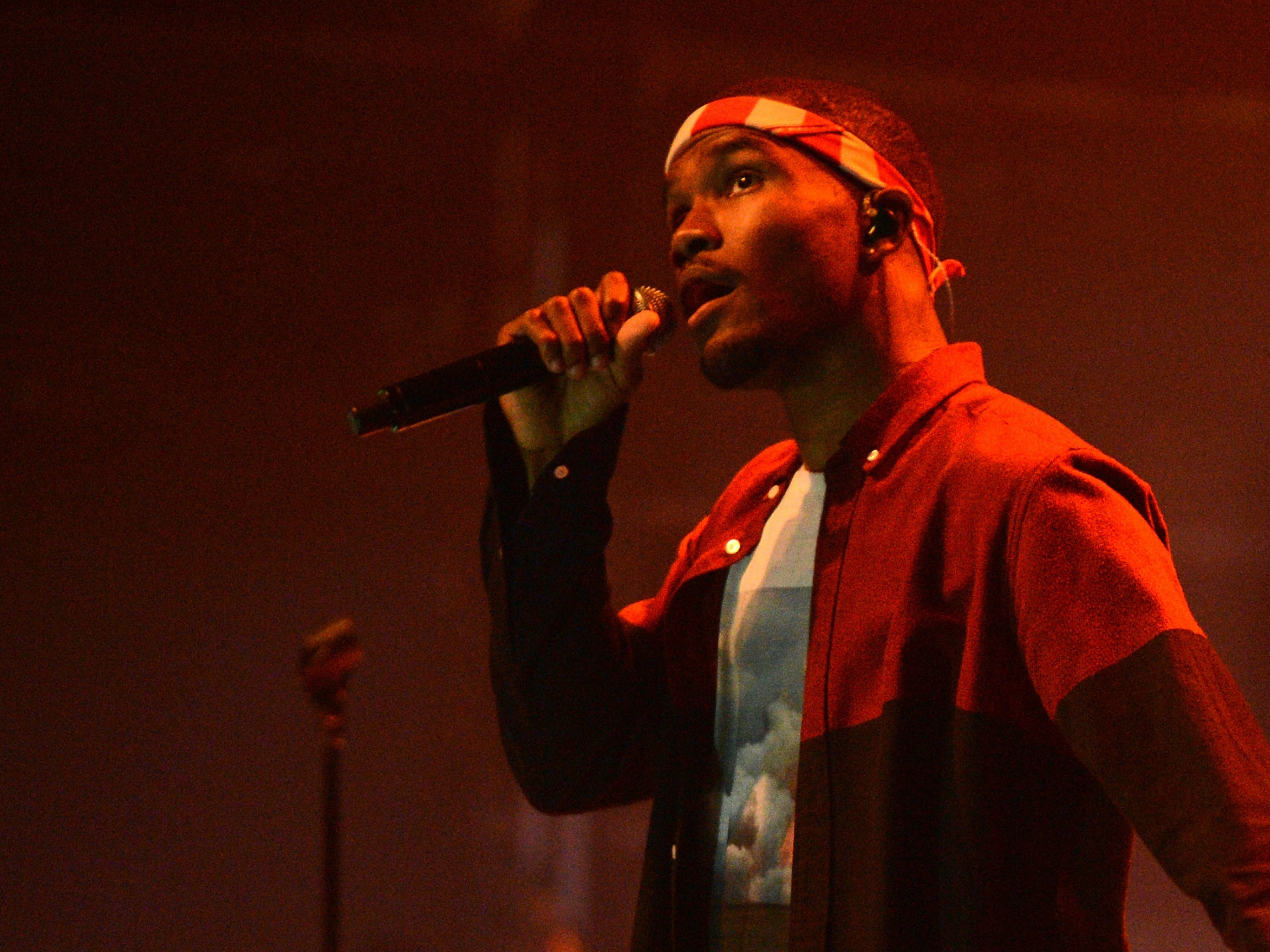NEW YORK, NY - JULY 26:  Singer Frank Ocean performs at Terminal 5 on July 26, 2012 in New York City.  (Photo by Jason Kempin/Getty Images)