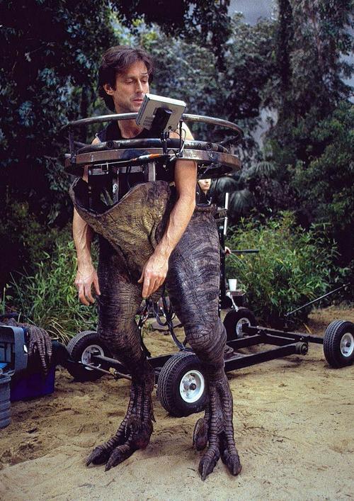 Effects supervisor John Rosengrant famously donned a velociraptor suit for The Lost World: Jurassic Park.