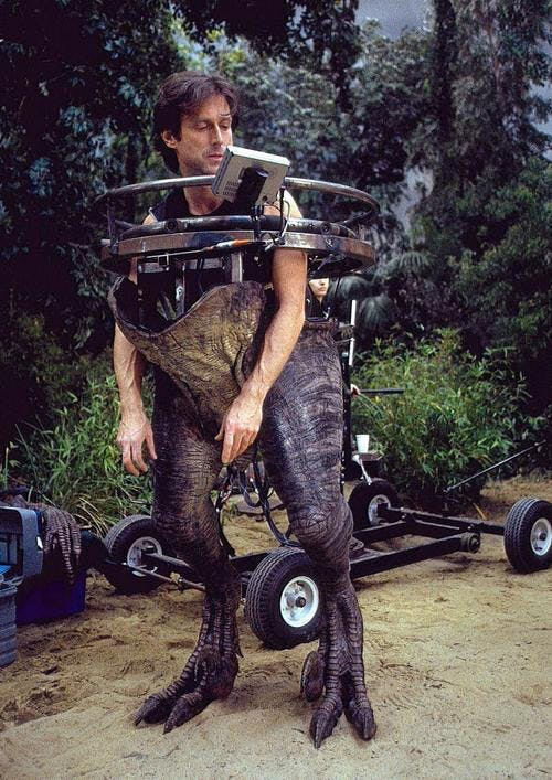 Effects supervisor John Rosengrant famously donned a velociraptor suit for The Lost World: Jurassic Park.