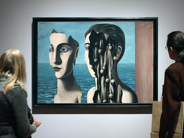 magritte painting brain