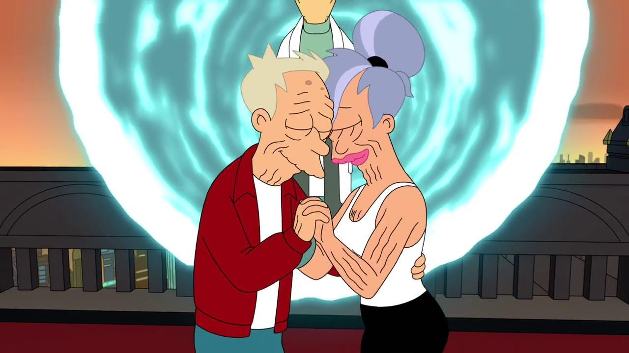 The last episode of 'Futurama' ended with a time-travelling bang.