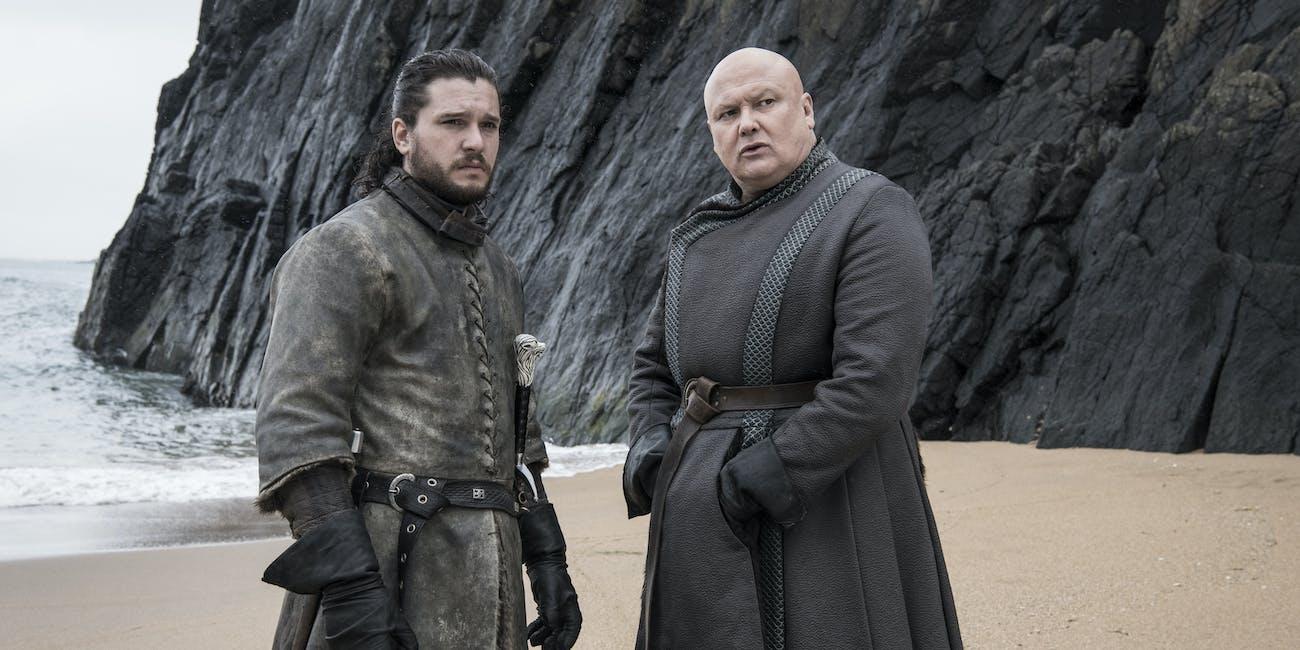 Jon Snow with Varys