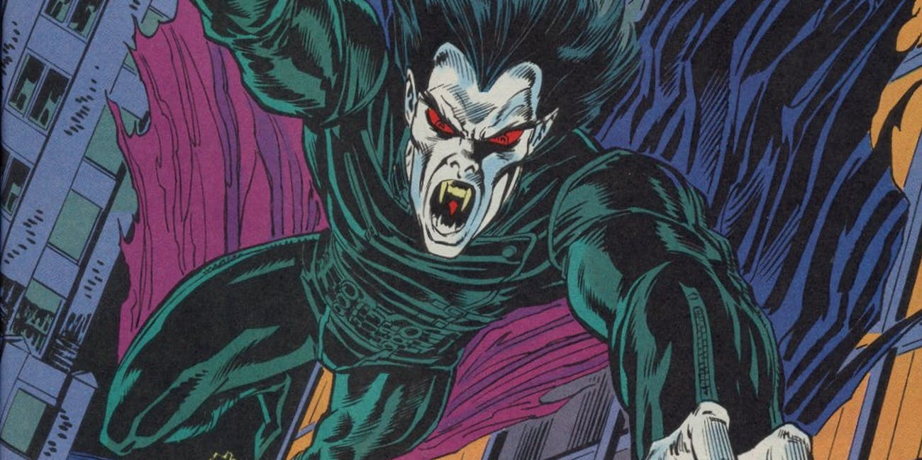Morbius the Living Vampire, as seen in the comics