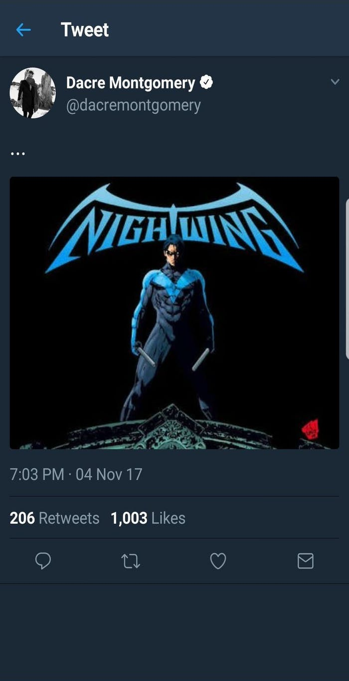 Dacre Montgomery Nightwing Movie